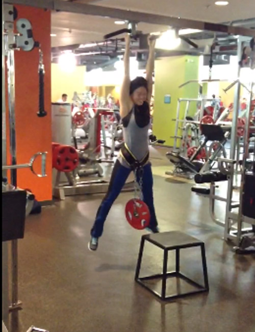 Pull-Up Exercises For Women - Weighted Pull-Up