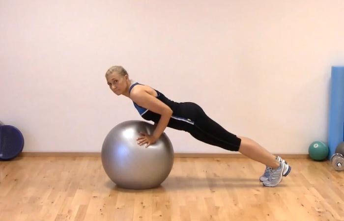 Swiss Ball Exercises - Swiss Ball Incline Push-Up
