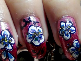 736-Hand-Painted-Nail-Art-Tutorials-With-Detailed