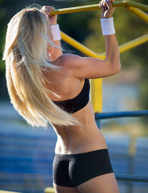 Pull Up Exercises For Women - Hanging Reverse Shoulder Shrugs