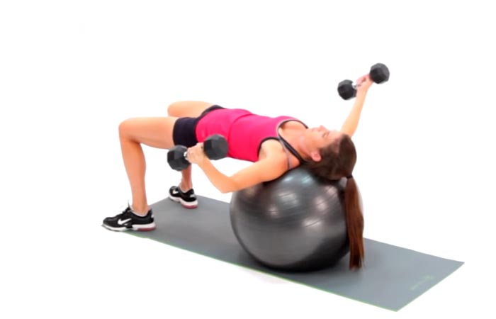 30 Swiss Ball Exercises For The Upper Body, Abs, Back, And