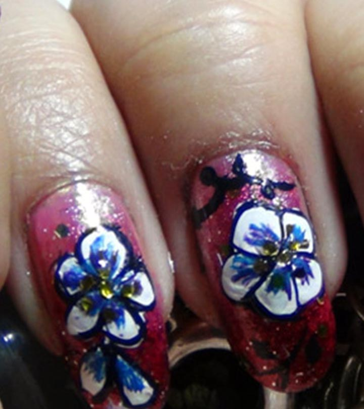 10 Amazing Hand Painted Nail Art Designs