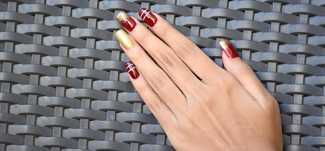 2 holiday nail art designs with stepwise tutorial and pictures amazing holiday nail art prinsesfo Image collections