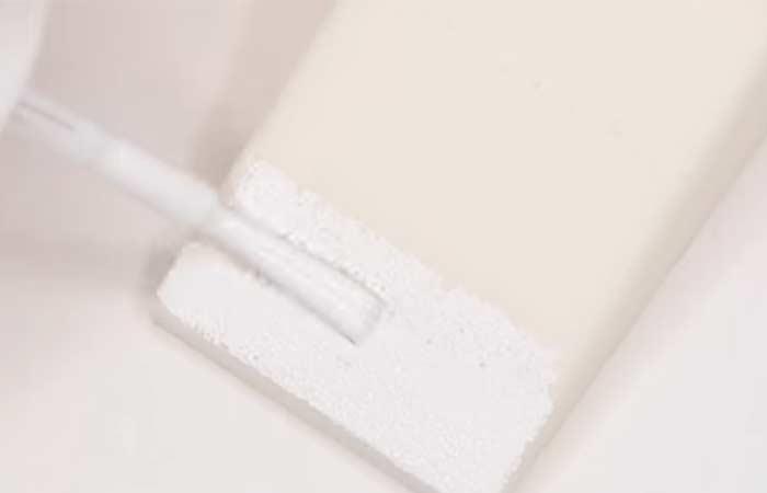 Apply The White Nail Polish To The Sponge