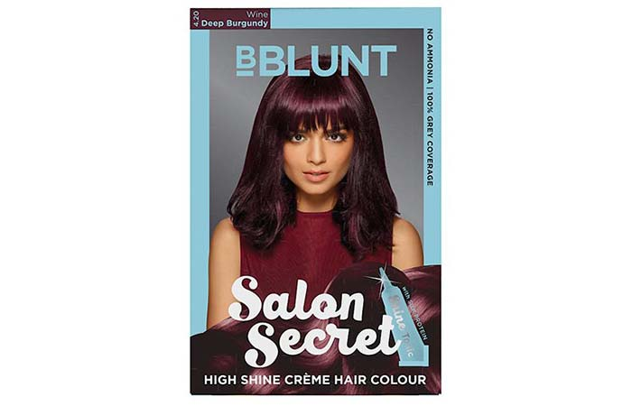 BBlunt Salon Secret High Shine Creme Hair Color – 4.20 Wine Deep Burgundy