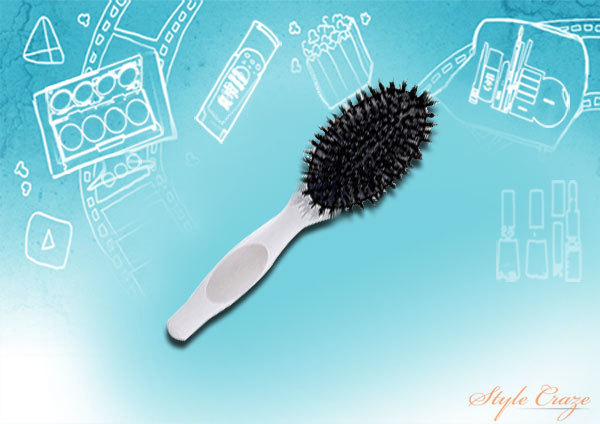 Boar Bristle Detangling Brush for fragile hair