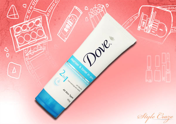 Dove Cleanser and Toner in One
