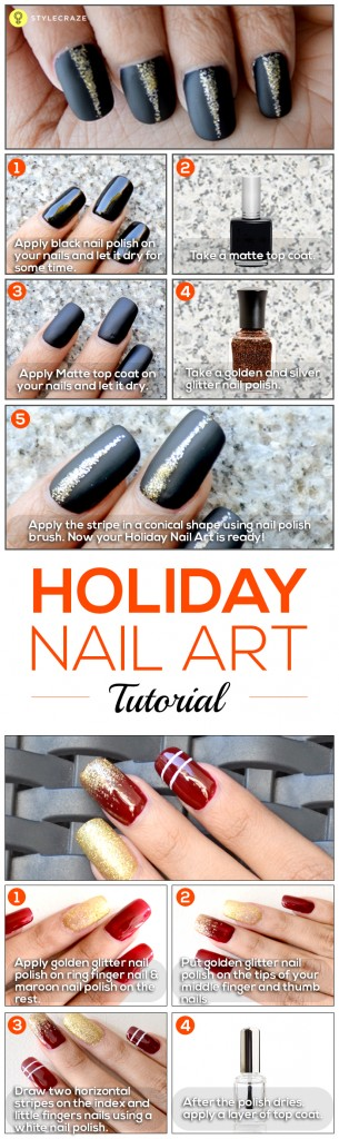 Holiday Nail Art Tutorials