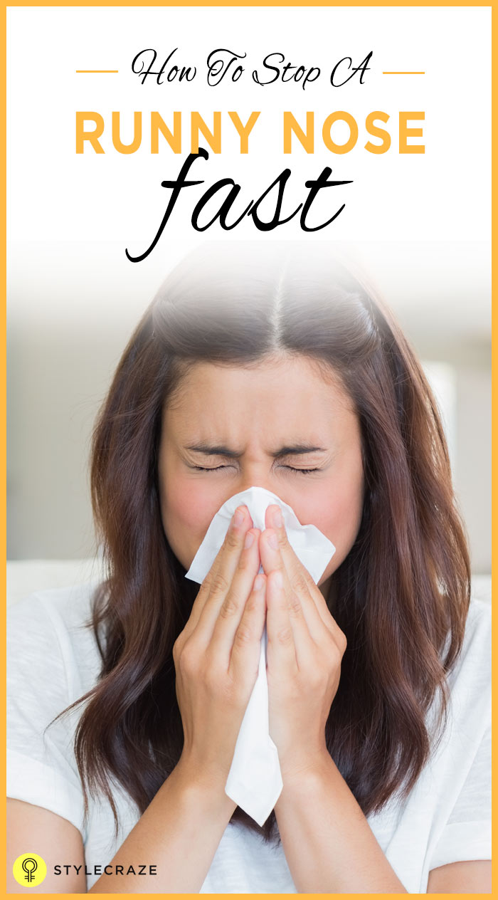 how to get rid of a runny nose fast overnight