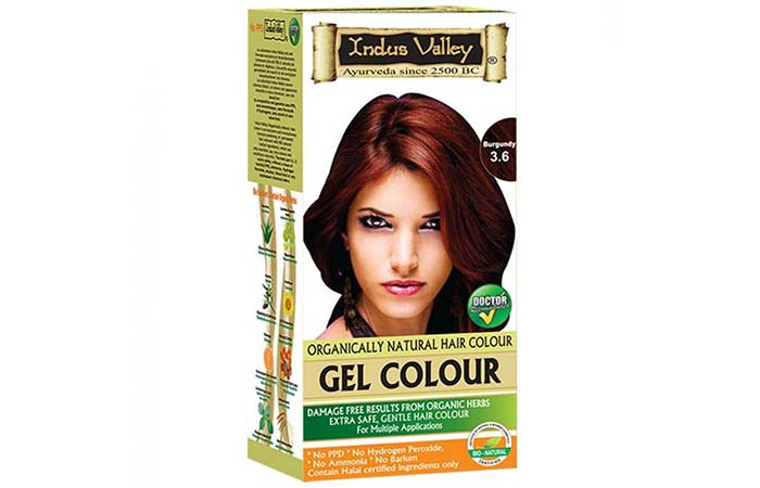 Indus Valley Organically Natural Get Hair Color – 3.6 Burgundy