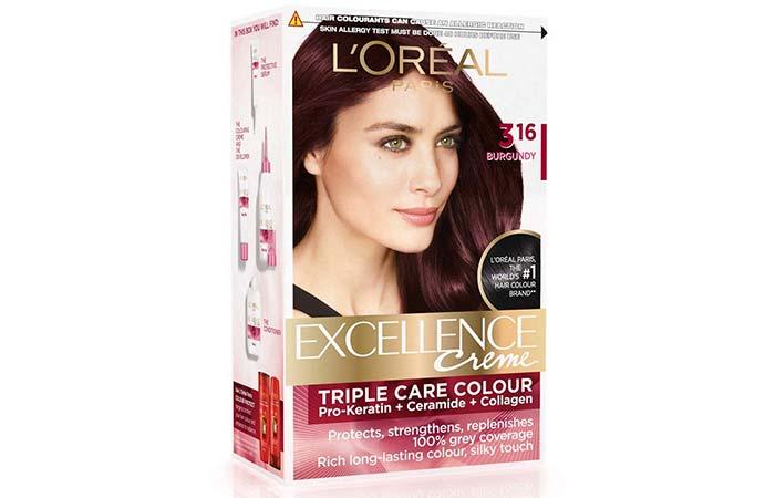 L'Oreal Paris Excellence Creme Triple Care Color – 3.16 Burgundy