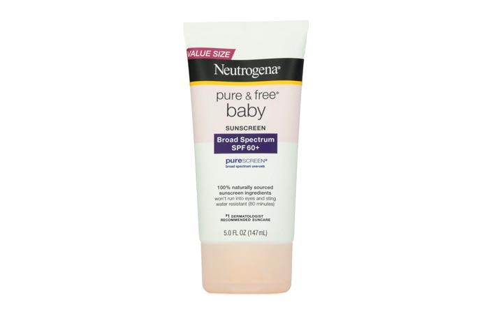 Neutrogena Pure & Free® Baby Sunscreen Lotion Broad Spectrum SPF 60+