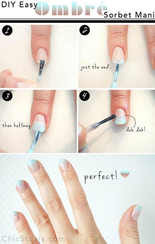 Ombre Sorbet Nails