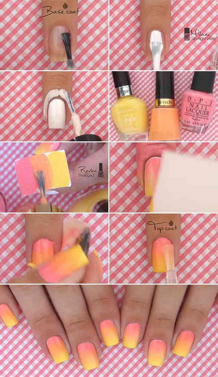 Ombre Sunshine Nail Design