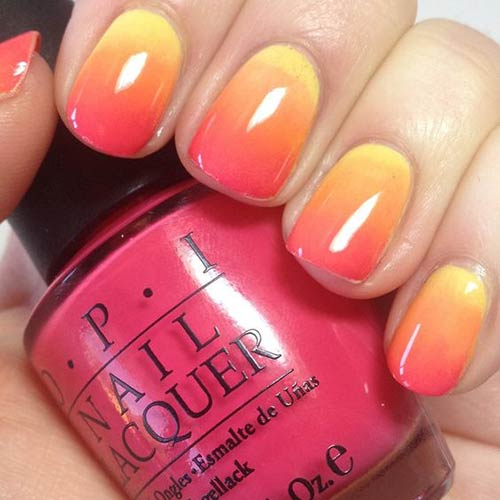 Ombre Sunshine Nail Design
