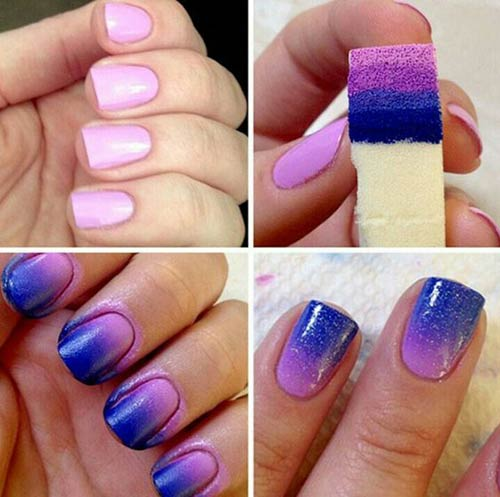 Purple And Indigo Ombre Nails