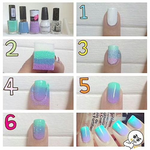 Summer Ombre DIY Nails