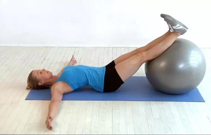 Swiss Ball Hip Extension