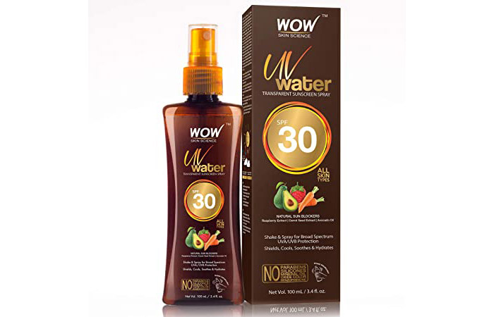 Wow Skin Science Water Transparent Sunscreen Spray
