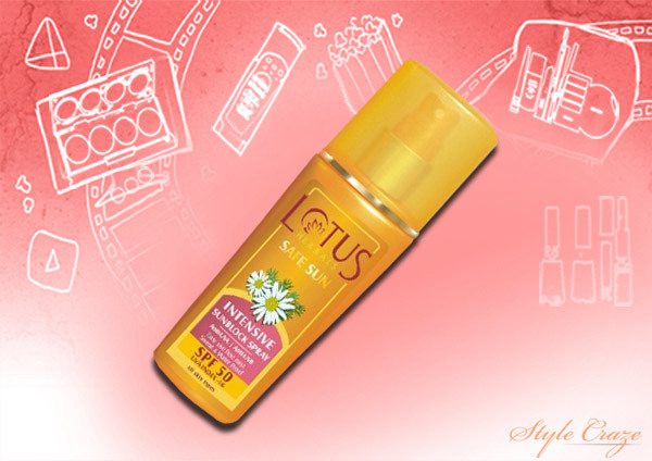 Lotus Herbals Intensive Sun Block Spray SPF-50