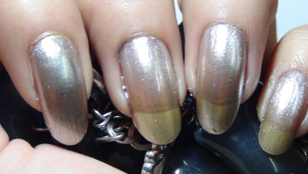 metallic ombre nails one