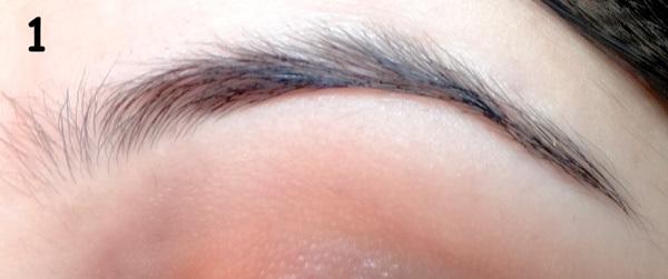 moisturized eyebrows