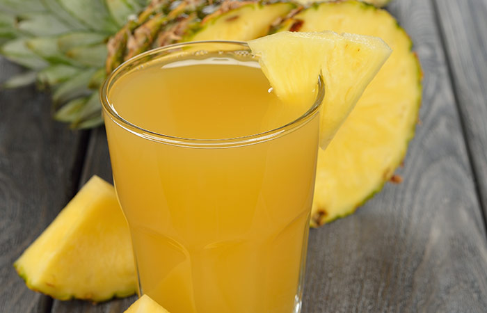 10. Pineapple Juice For Chest Congestion