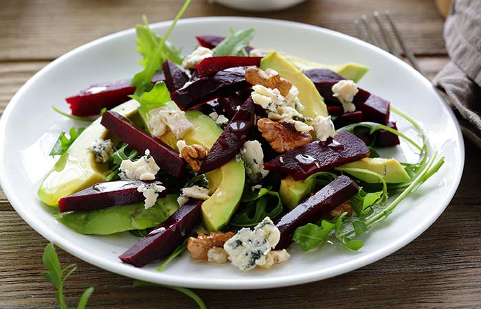 Vegetarian Salad Recipes - Avocado Beetroot Salad
