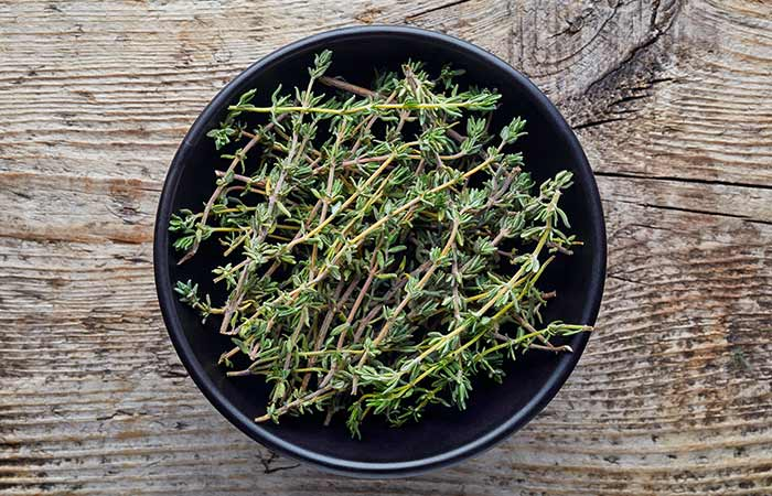 13. Thyme Herb For Chest Congestion