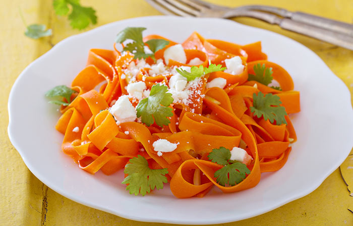 Carrot Ribbon Salad With Lemon Vinaigrette