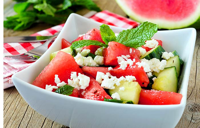 Cucumber & Watermelon Salad