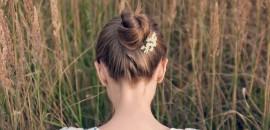 Bun Hairstyle - A Step