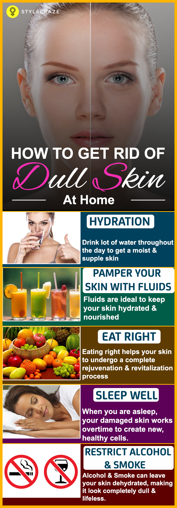 How to get rid of dull skin at home