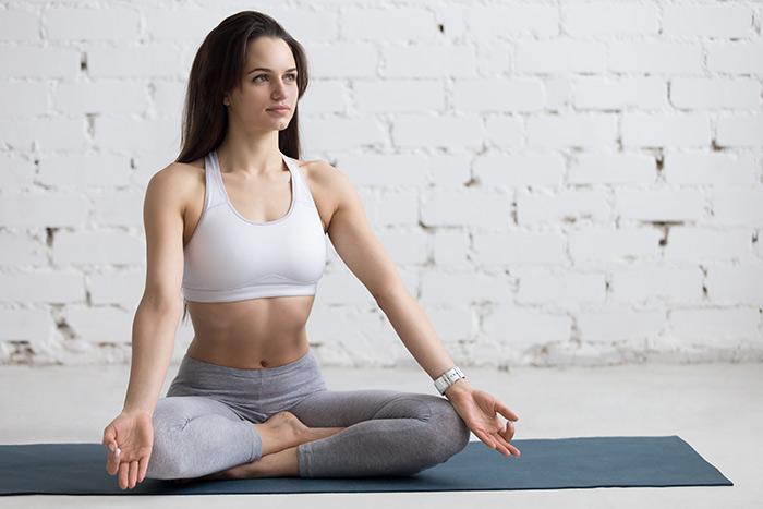 Keeping The Ajna Chakra Balanced Through The Easy Pose Or Sukhasana