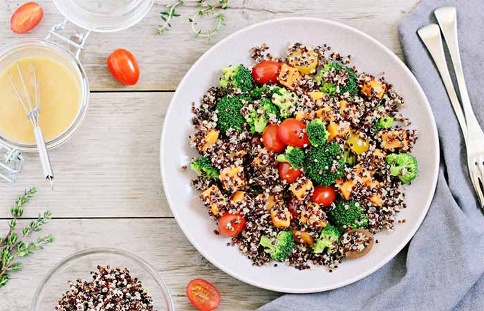 Quinoa And Soybean Clean Salad