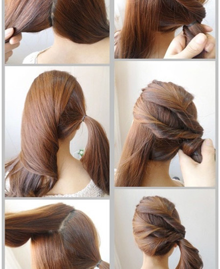 Side Hair Twist Pony Tail