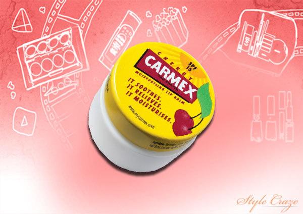 carmex cherry moisturizing lip balm