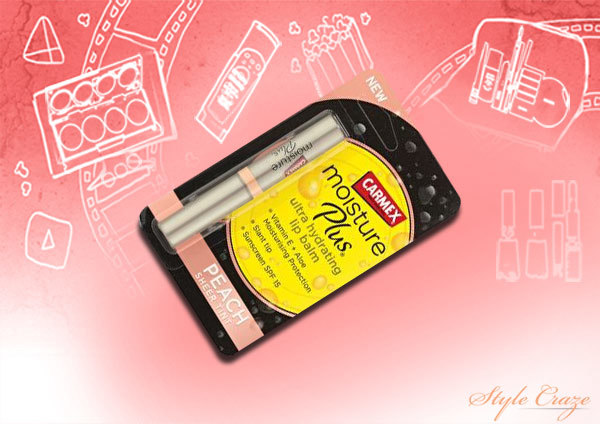 carmex peach sheer tint moisture plus lip balm
