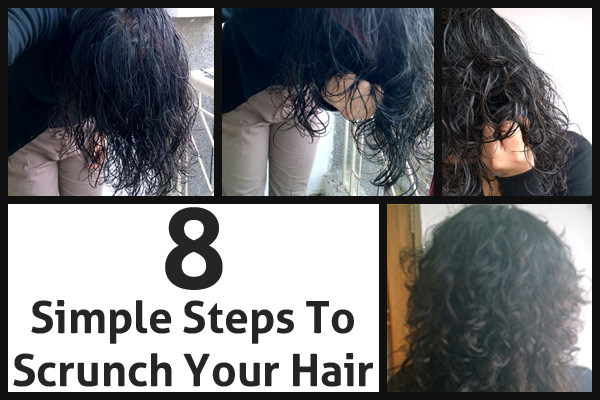 how to style scrunched hair hair wavy hair benefit wavy hair and step 2806 | how to scrunch your hair2