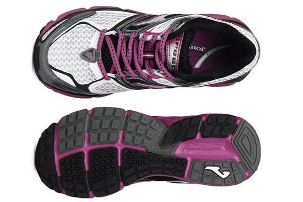 joma women grey & pink running lady sports shoes