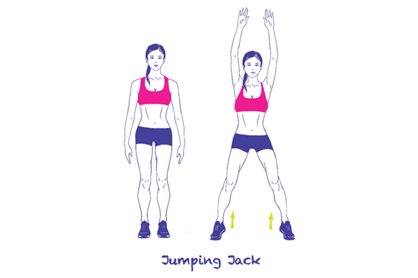 Great Cardio Exercises At Home 1 Jumping Jacks