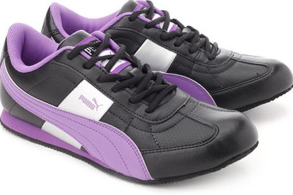 puma women black & purple esito II sports shoes