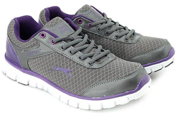 slazenger women grey & purple virginia sports shoes