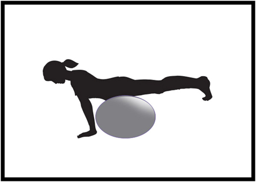 Donkey Kick Exercises - stability ball donkey kick