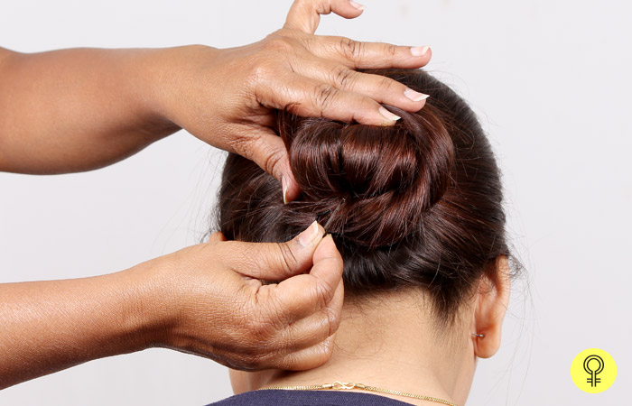 whole bun with bobby pins