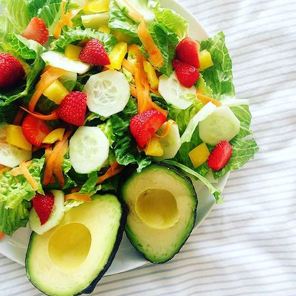 Summer Salads Recipes – Strawberry Cucumber Avocado