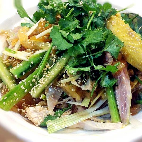 Chinese Salad Recipes - Poached Chicken Wings Chinese Salad