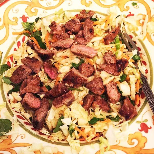 Chinese Salad Recipes - Steak Chinese Salad