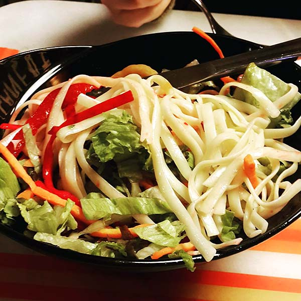 Chinese Salad Recipes - Flat Noodle Chinese Salad