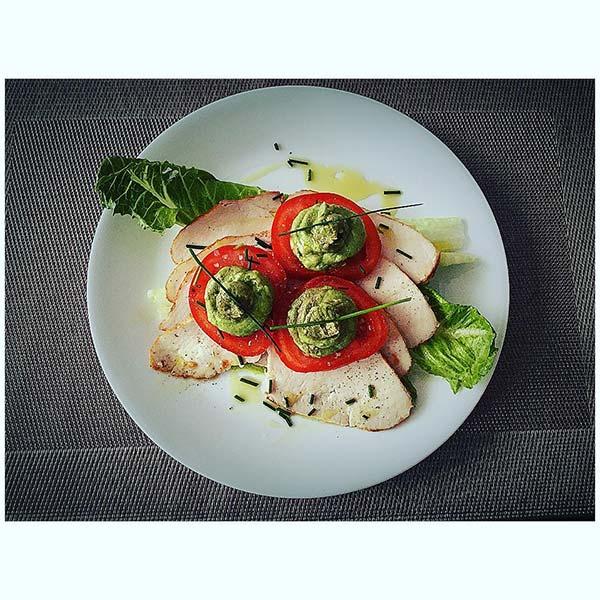 14. Guacamole Turkey Breast Summer Salad